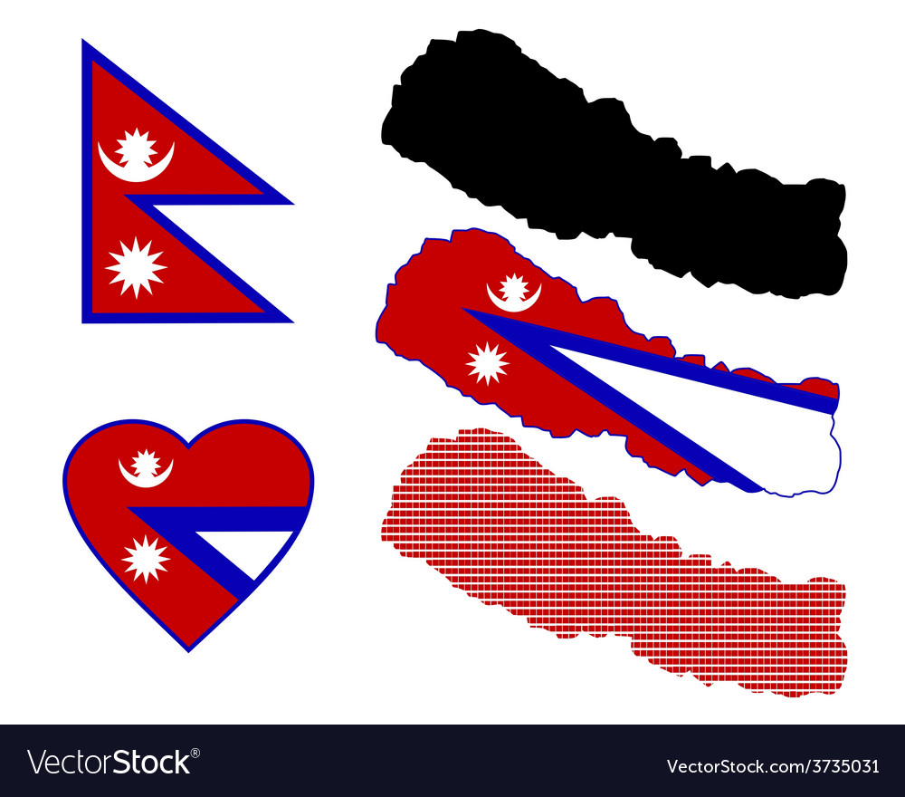 Map of nepal vector | Price: 1 Credit (USD $1)