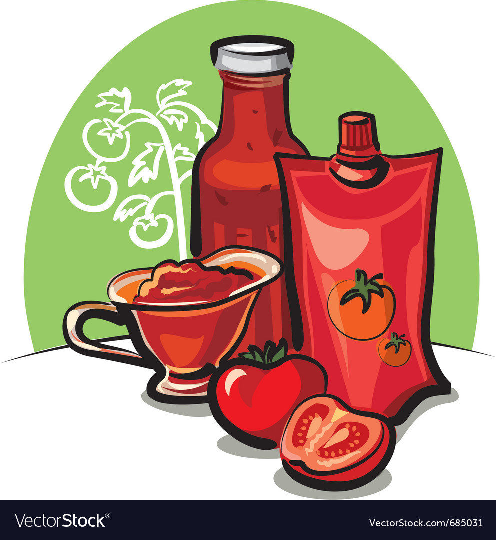 Tomato sauce and ketchup vector | Price: 3 Credit (USD $3)