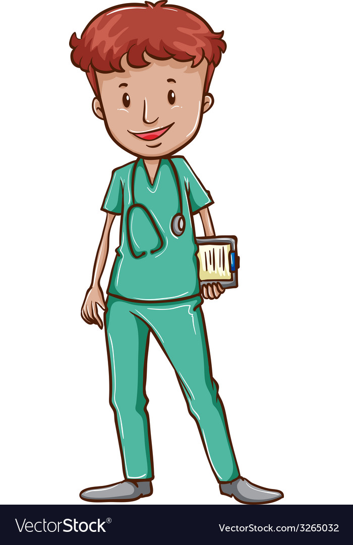 A doctor with a stethoscope vector | Price: 1 Credit (USD $1)
