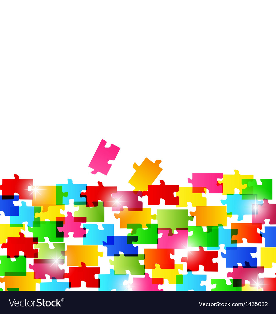 Abstract background made from colorful puzzle piec vector | Price: 1 Credit (USD $1)