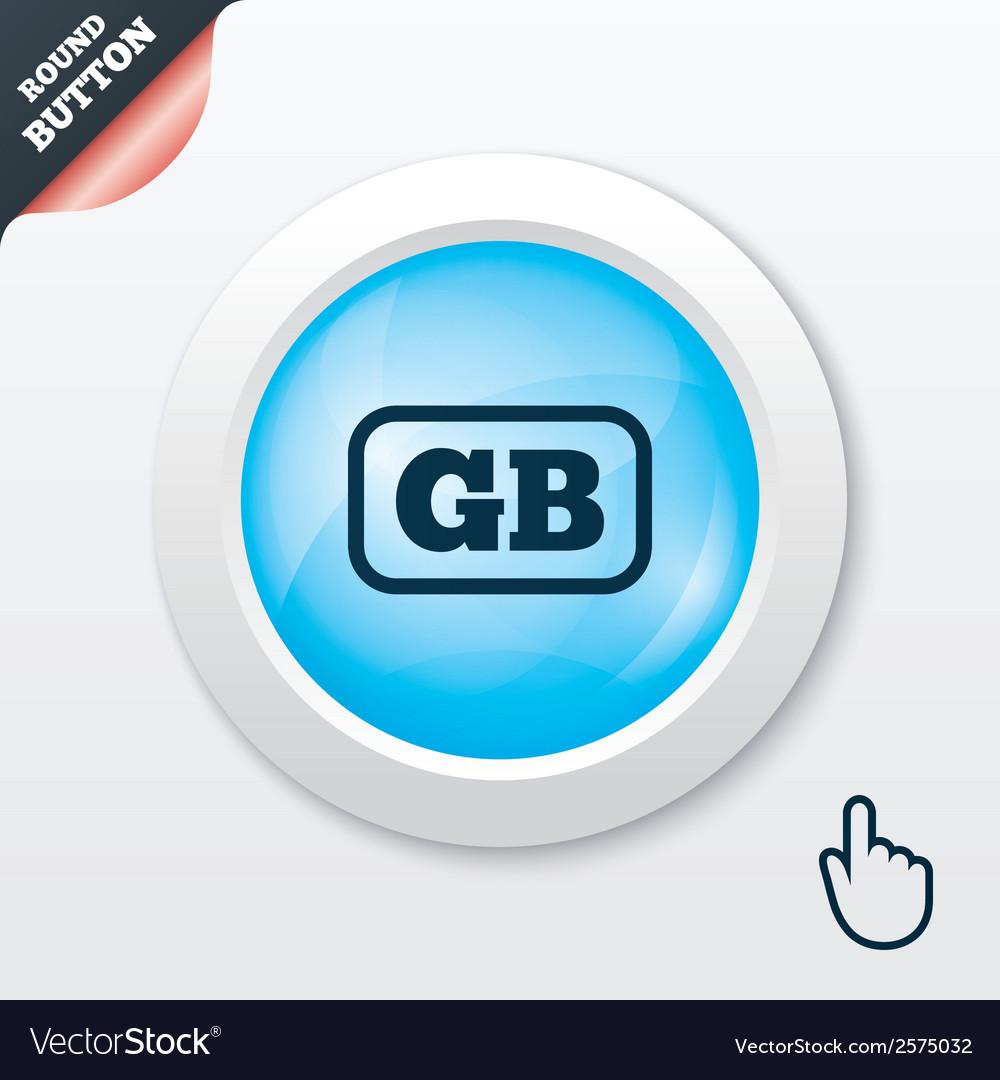 British language sign icon gb translation vector | Price: 1 Credit (USD $1)