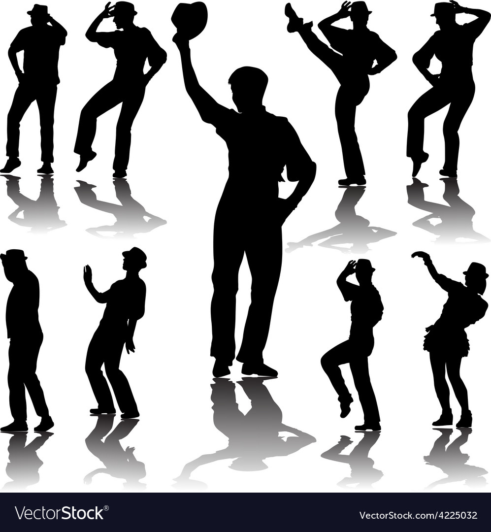 Dance people with hat vector | Price: 1 Credit (USD $1)