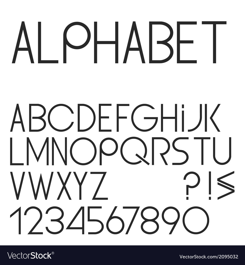 Elegant simple black font numbers and punctuation vector | Price: 1 Credit (USD $1)