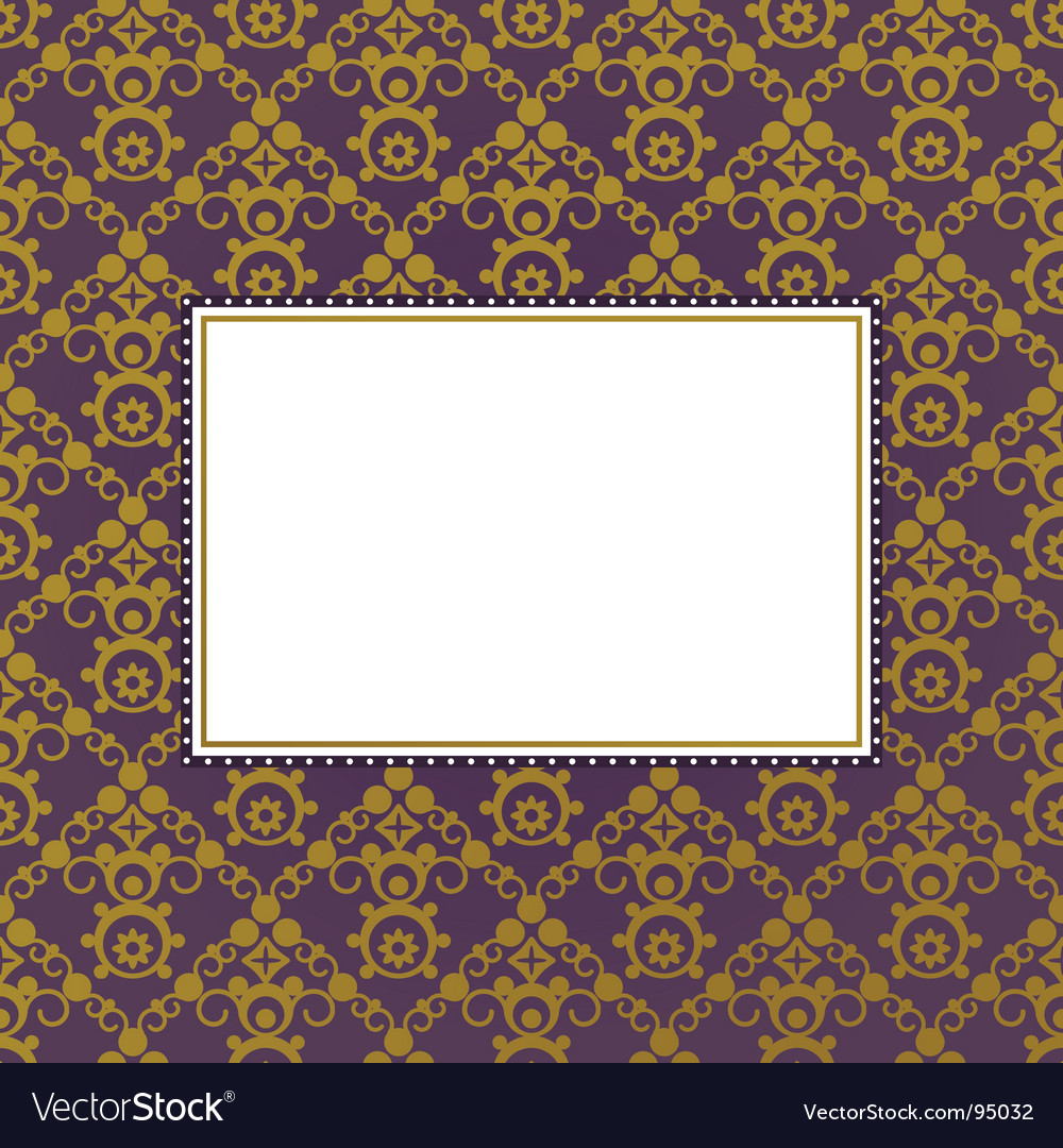 Gold frame background vector | Price: 1 Credit (USD $1)