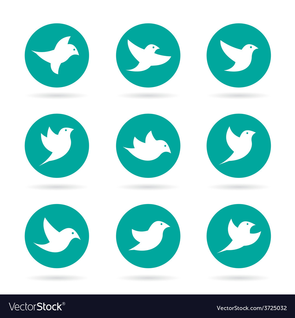 Group of bird in the circle vector | Price: 1 Credit (USD $1)