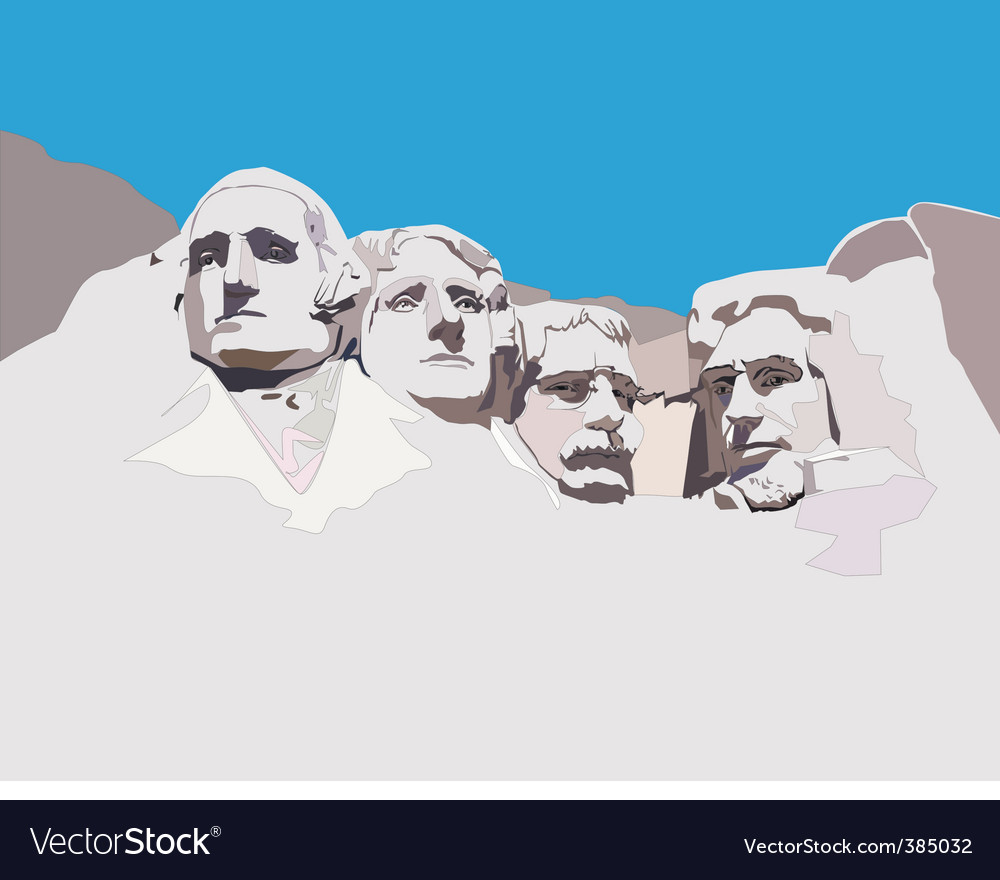 Mount rushmore national memorial vector | Price: 1 Credit (USD $1)
