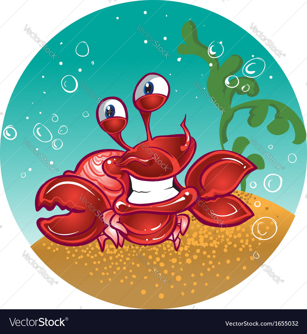Red fiddler crab vector | Price: 3 Credit (USD $3)