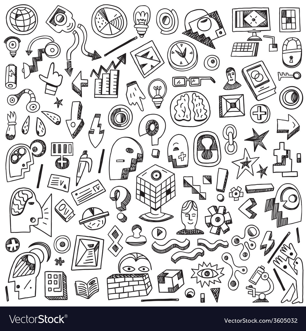 Science  thinking - doodles set vector | Price: 1 Credit (USD $1)