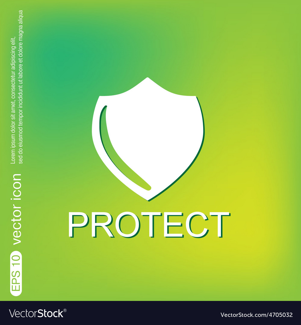 Shield a symbol of protection shield vector   Price: 1 Credit (USD $1)