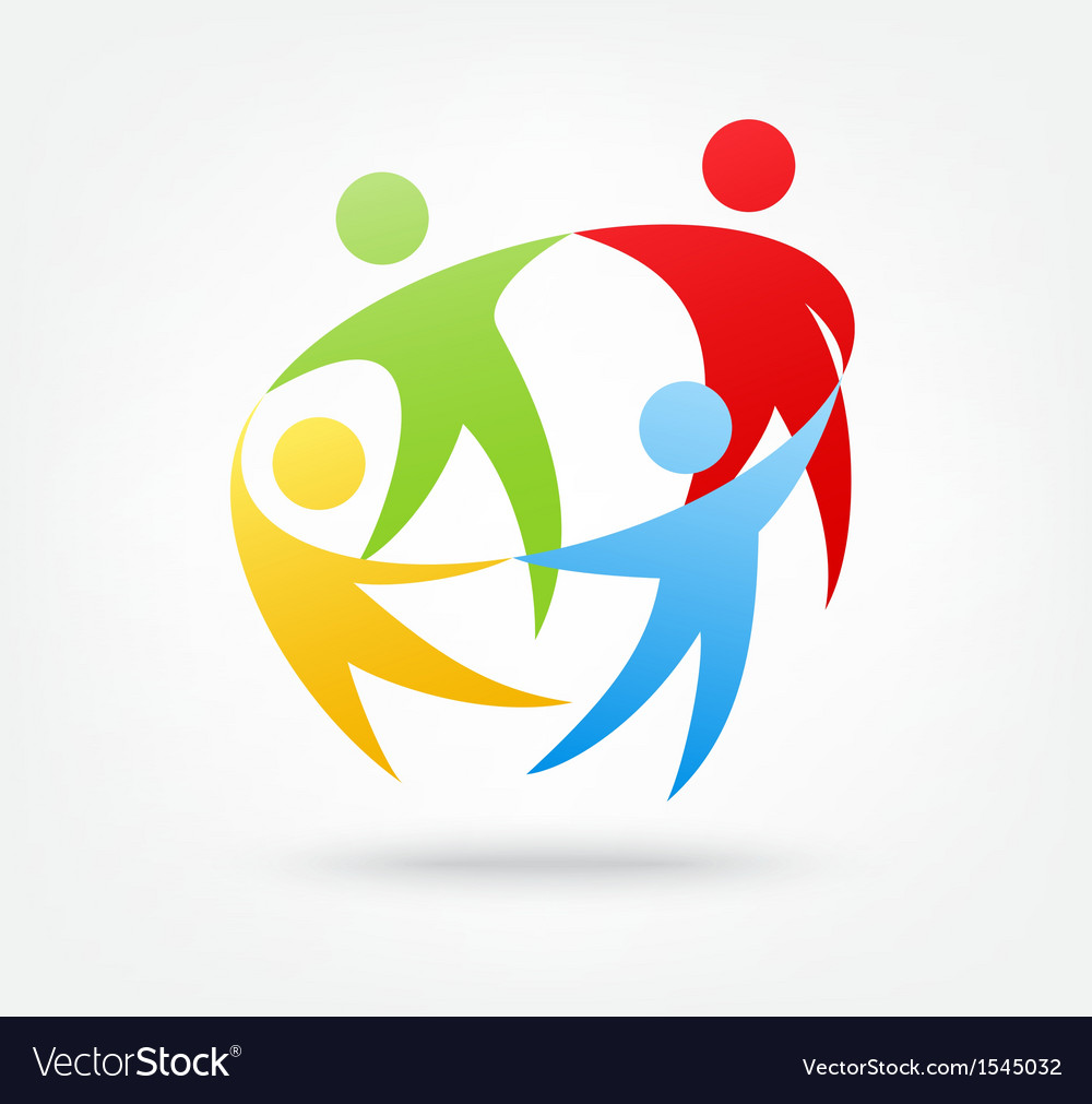 Team work icon vector | Price: 1 Credit (USD $1)