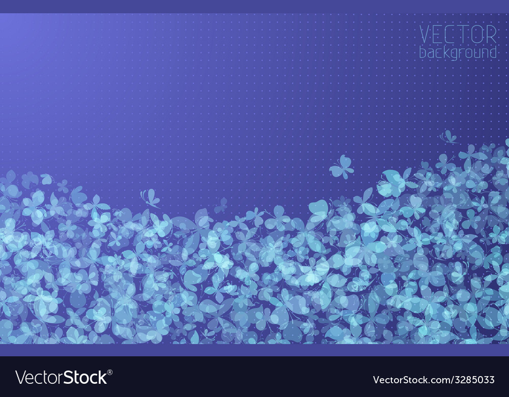 Blue butterflies background vector | Price: 1 Credit (USD $1)