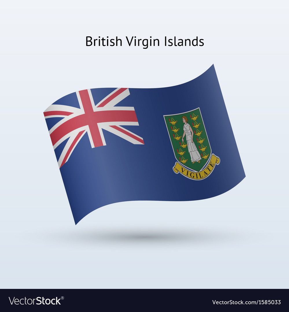 British virgin islands flag waving form vector | Price: 1 Credit (USD $1)