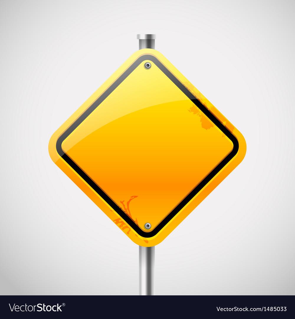 Empty road sign vector | Price: 1 Credit (USD $1)