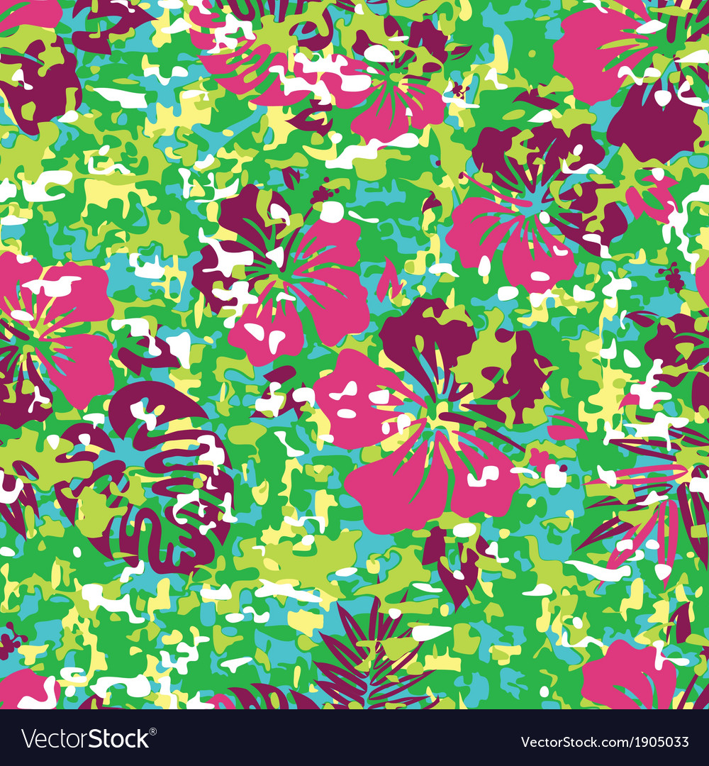 Hawaiian shirt camouflage vector | Price: 1 Credit (USD $1)