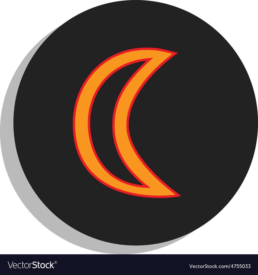 Moon symbol vector | Price: 1 Credit (USD $1)