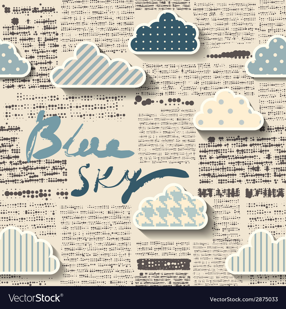 Newspaper with clouds vector | Price: 1 Credit (USD $1)