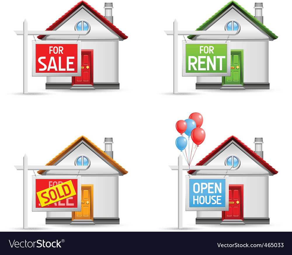 Real estate icons set 3 vector | Price: 3 Credit (USD $3)