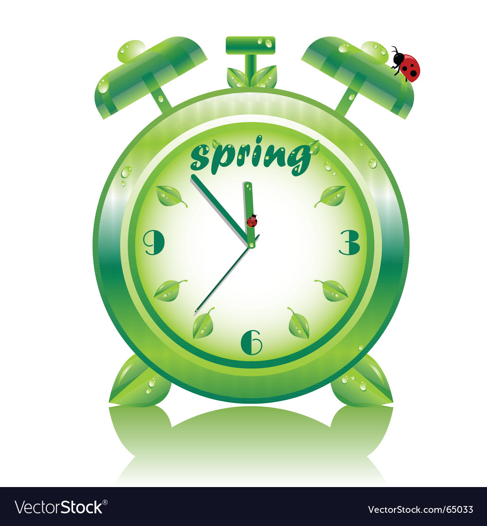 Springtime clock vector | Price: 1 Credit (USD $1)