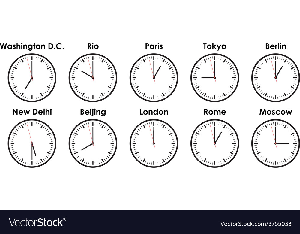 Timezones vector | Price: 1 Credit (USD $1)