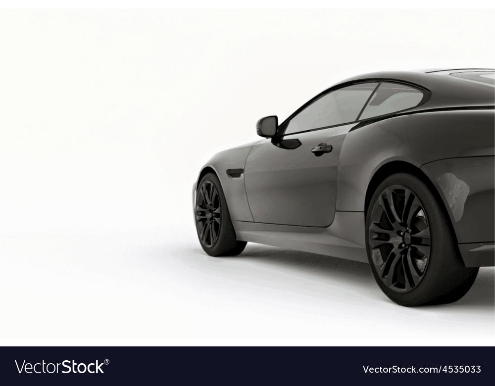 Very fast sport black car vector | Price: 1 Credit (USD $1)