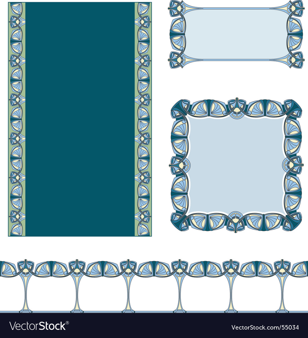 Art nouveau border vector | Price: 1 Credit (USD $1)