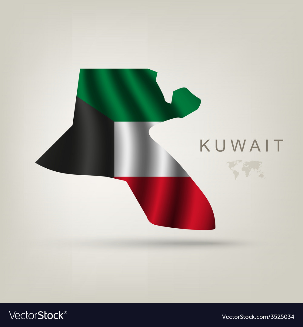 Flag of kuwait as a country vector | Price: 1 Credit (USD $1)