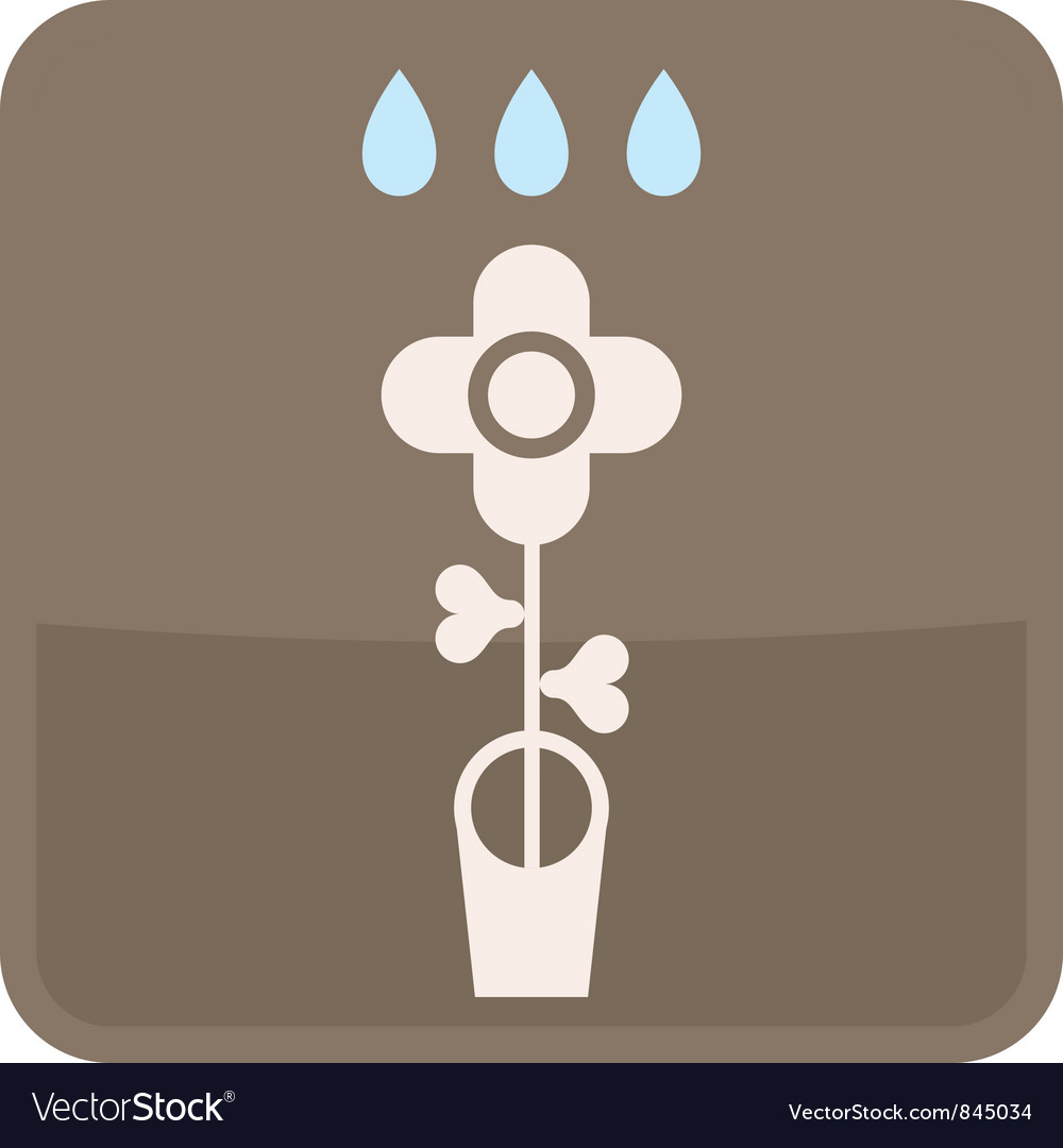 Flower in flowerpot vector | Price: 1 Credit (USD $1)
