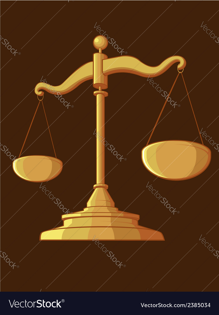 Justice scale vector | Price: 1 Credit (USD $1)
