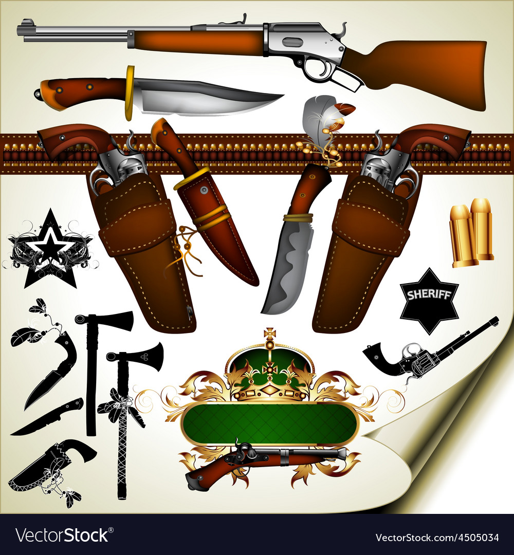 Set of ancient weapons vector | Price: 3 Credit (USD $3)