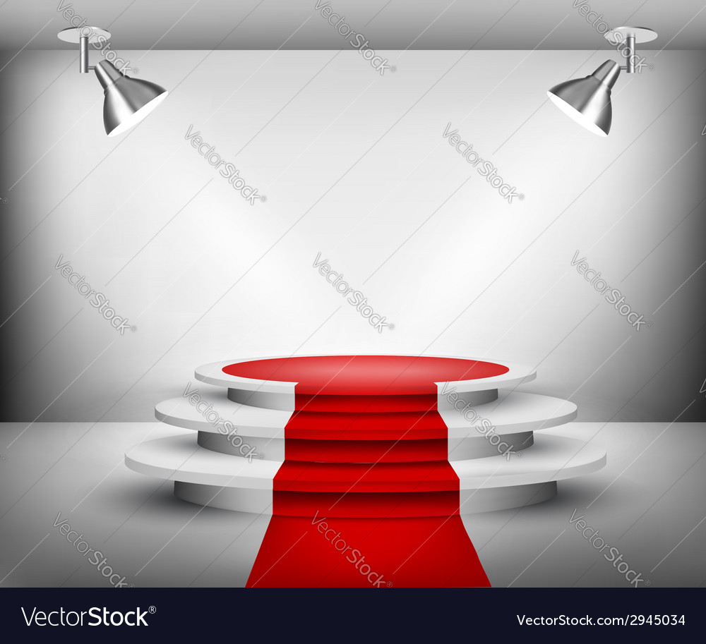 Showroom with red carpet vector | Price: 1 Credit (USD $1)
