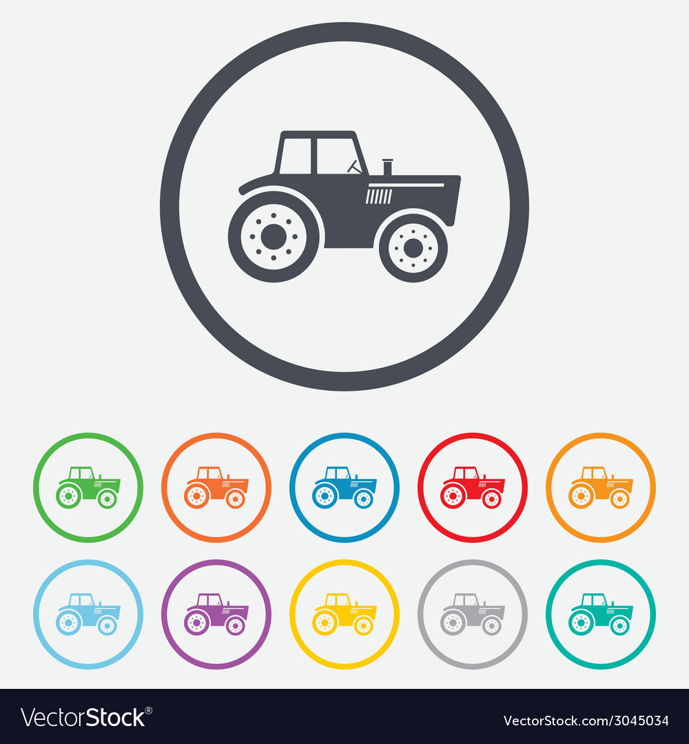 Tractor sign icon agricultural industry symbol vector   Price: 1 Credit (USD $1)