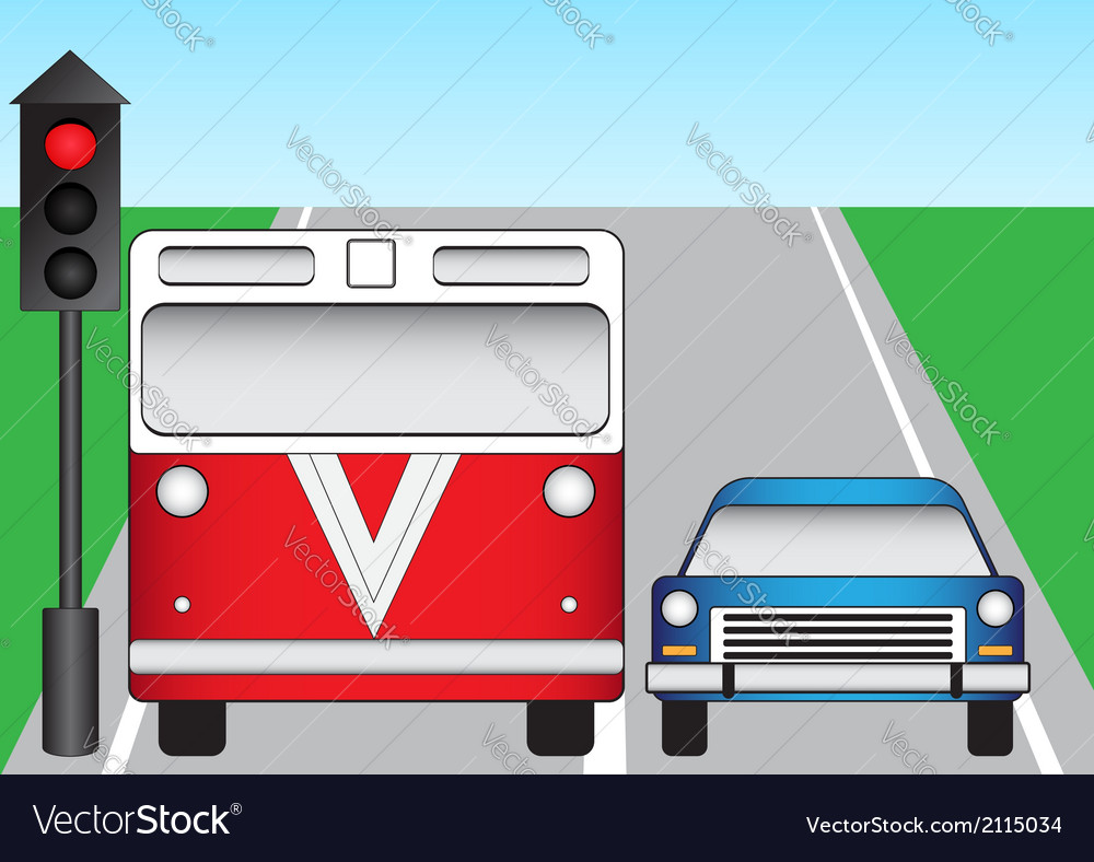 Traffic lights and machines vector   Price: 1 Credit (USD $1)