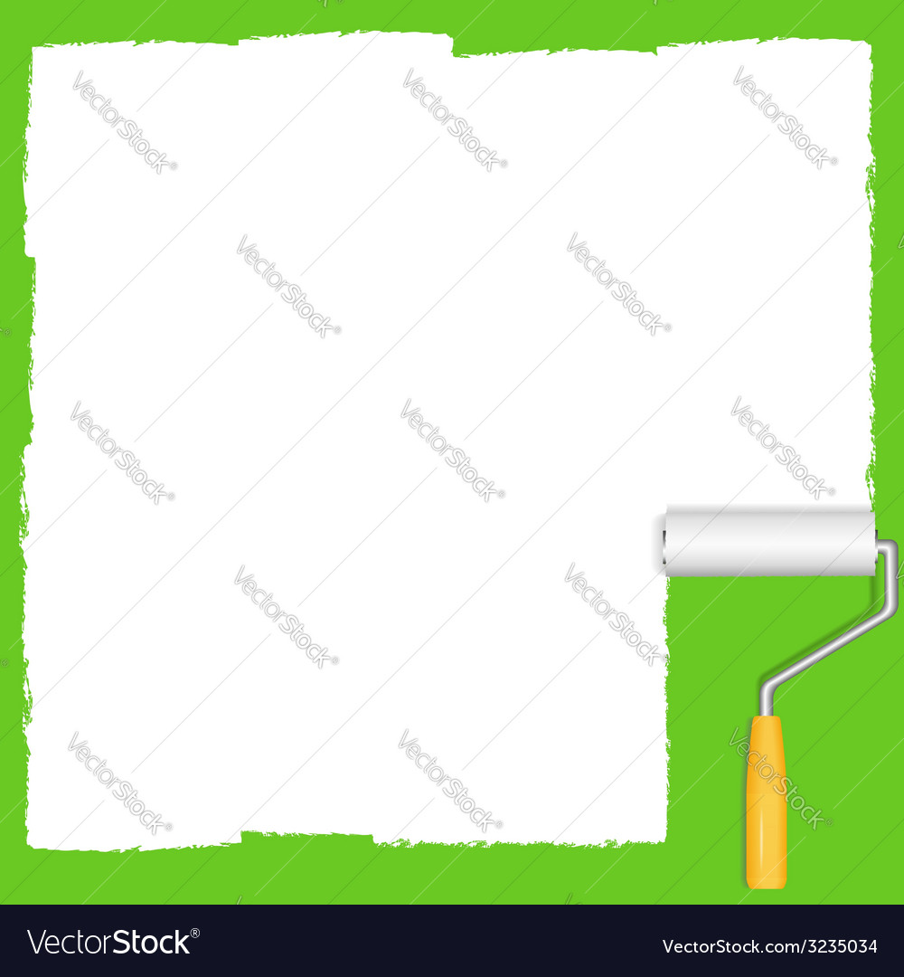 White paint roller vector | Price: 1 Credit (USD $1)