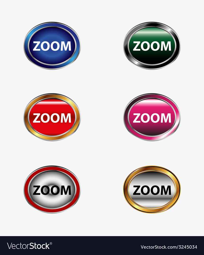 Zoom button set vector | Price: 1 Credit (USD $1)