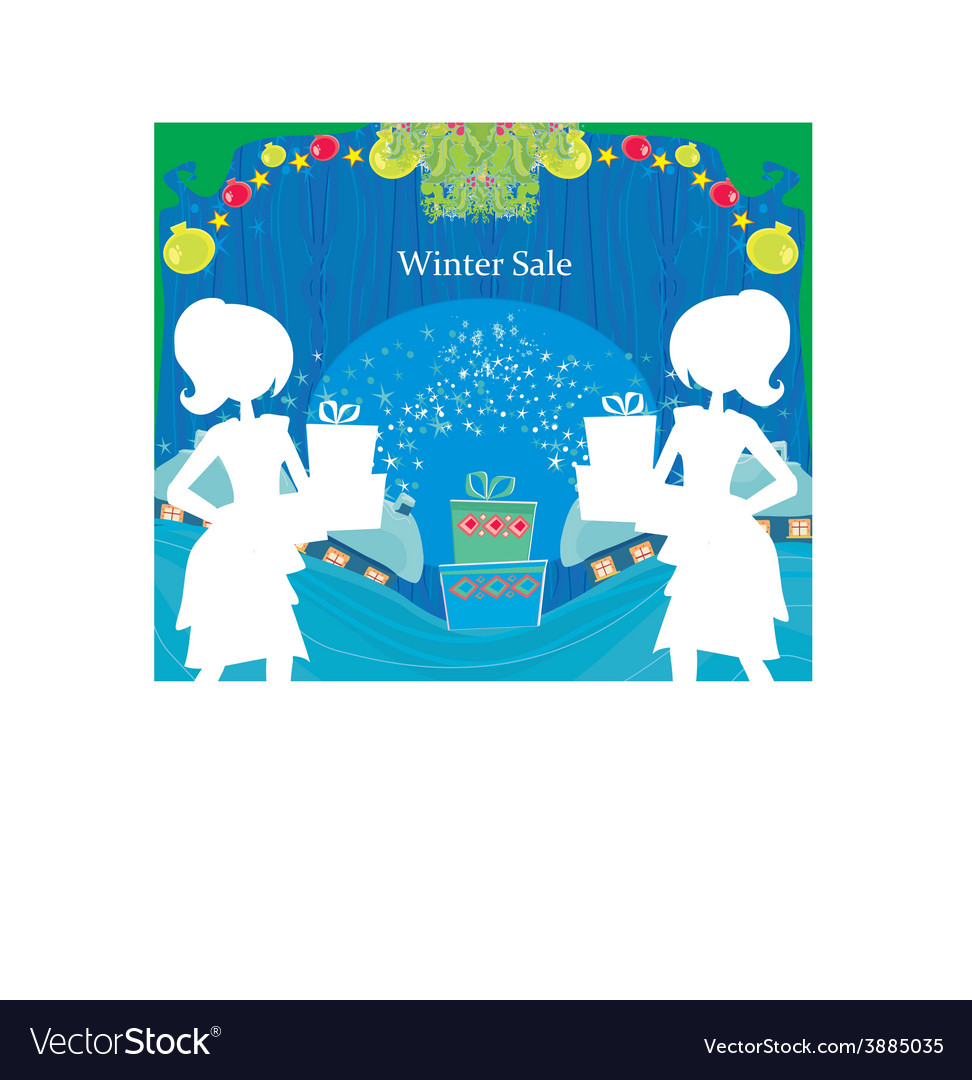 Abstract card - winter sale vector   Price: 1 Credit (USD $1)