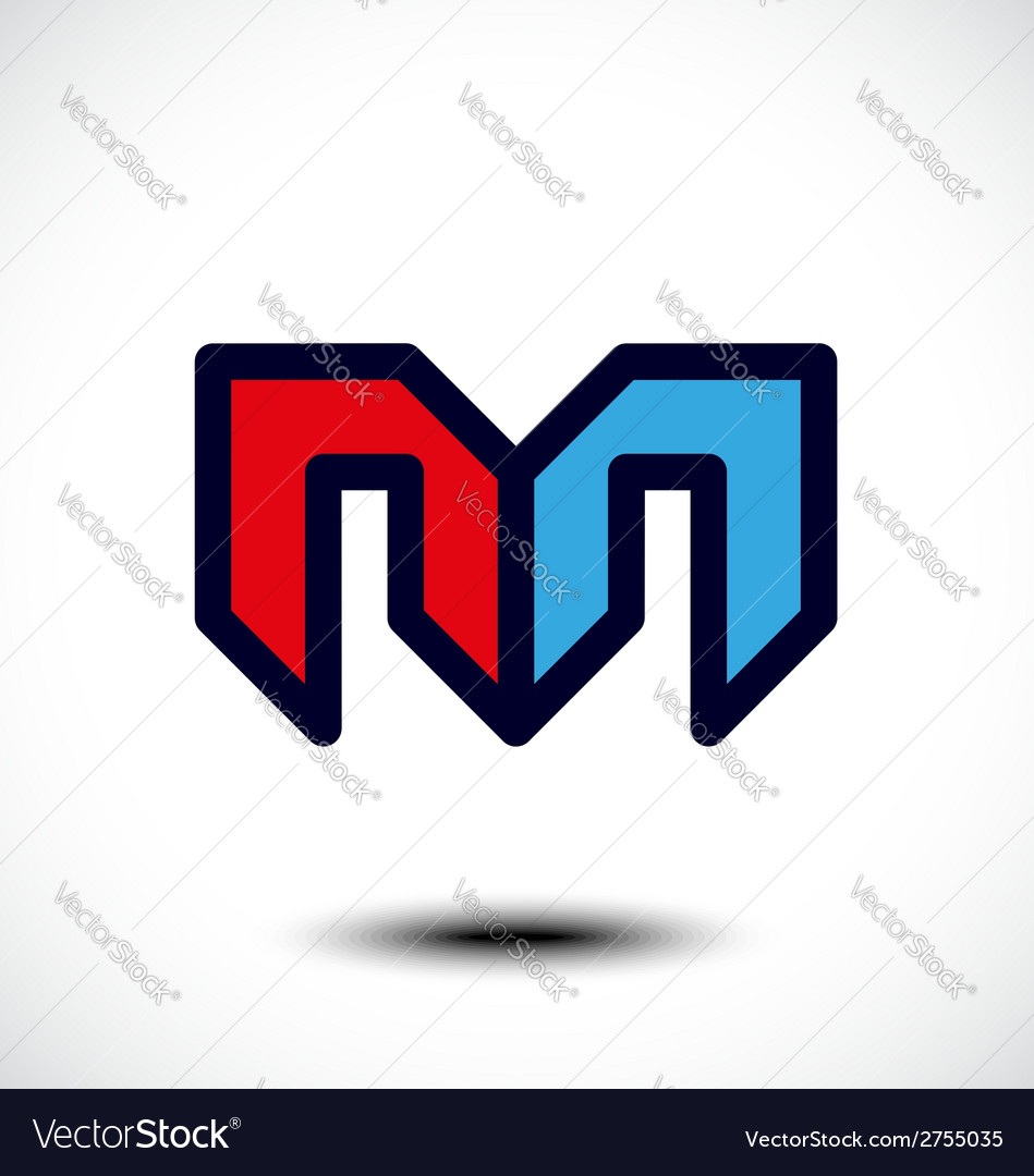 Abstract letter m icon vector | Price: 1 Credit (USD $1)