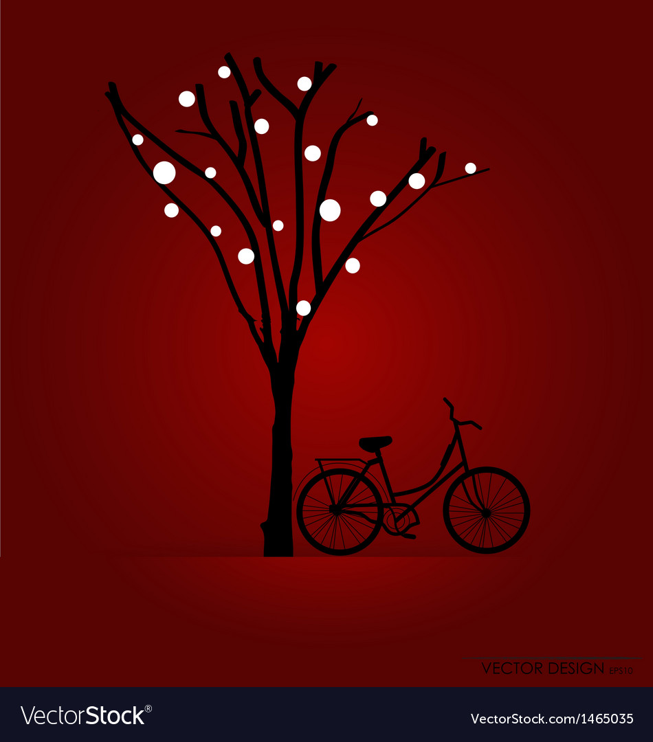 Bicycle under tree background vector | Price: 1 Credit (USD $1)