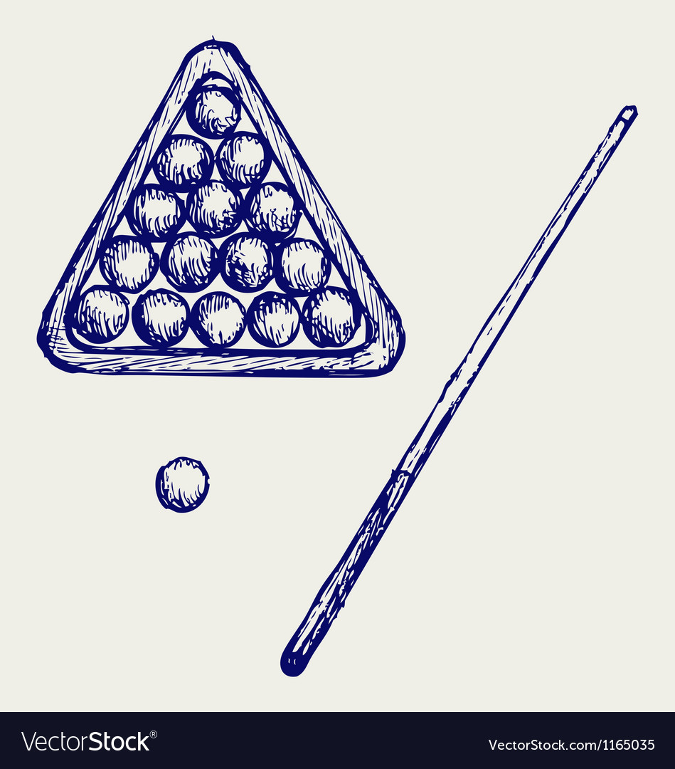Billard cues and balls vector | Price: 1 Credit (USD $1)