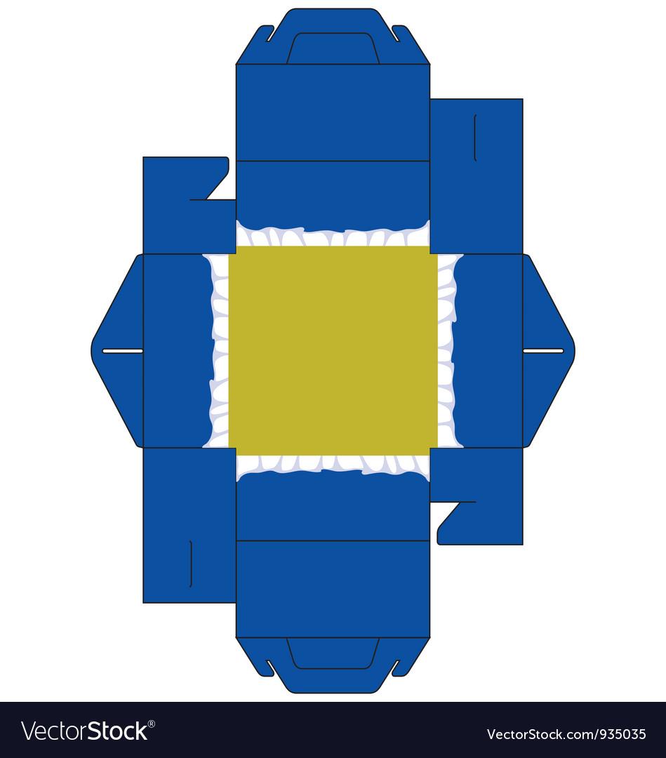 Cake box square blue vector   Price: 1 Credit (USD $1)