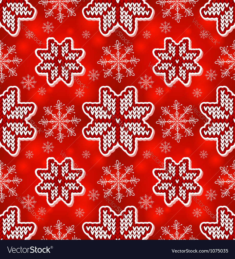Christmas red embroidery seamless pattern vector | Price: 1 Credit (USD $1)