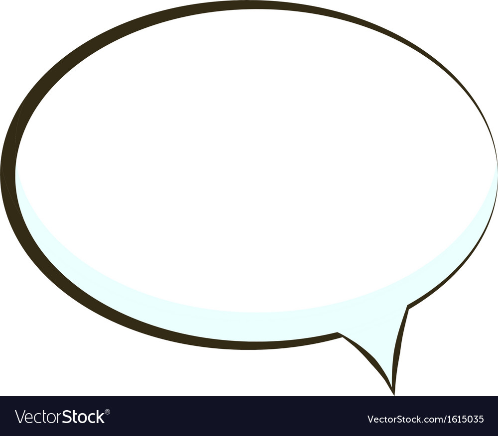 Comic book speech bubble symbol vector | Price: 1 Credit (USD $1)