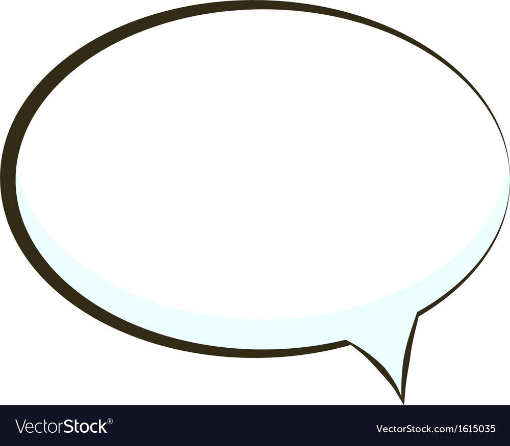 Comic book speech bubble symbol vector | Price: 1 Credit (USD $1)