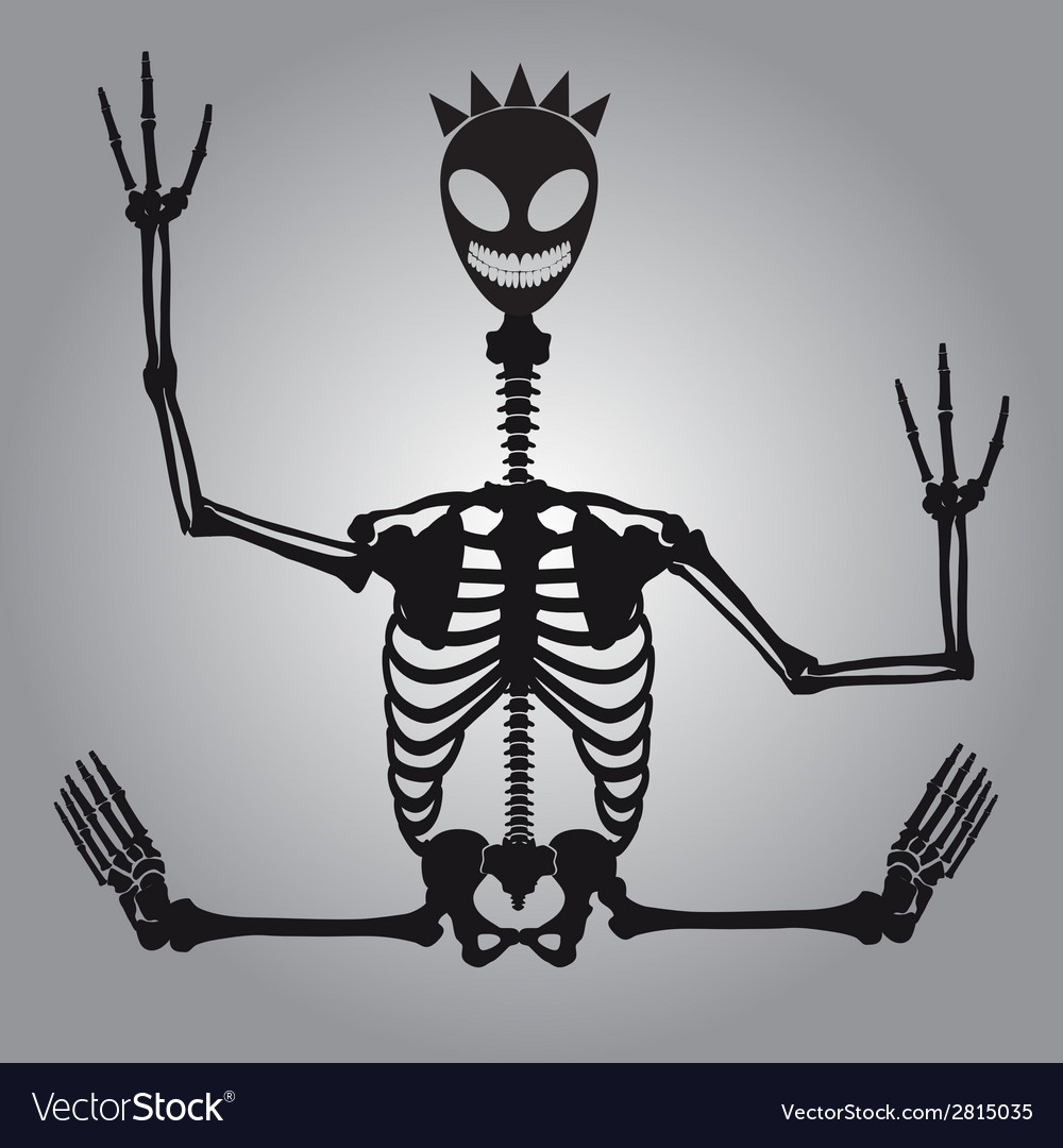 Crazy alien skeleton eps10 vector | Price: 1 Credit (USD $1)