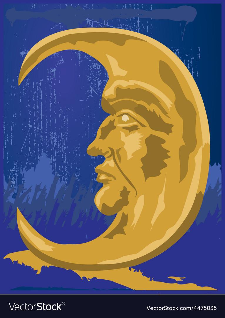 Cresent moon design vector | Price: 1 Credit (USD $1)