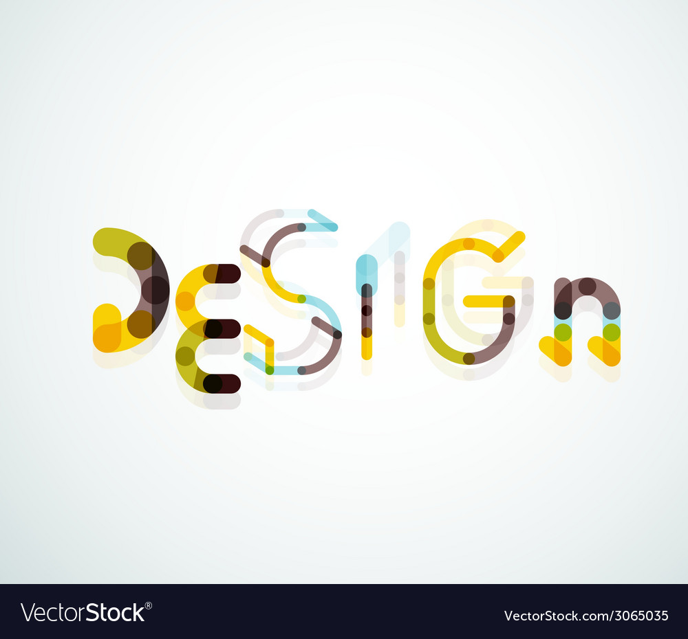 Design word font concept vector | Price: 1 Credit (USD $1)
