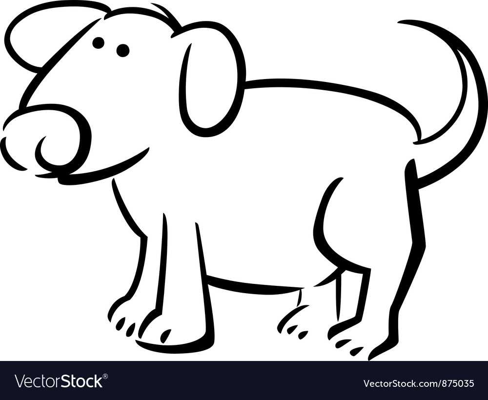 Doodle dog for coloring vector | Price: 1 Credit (USD $1)