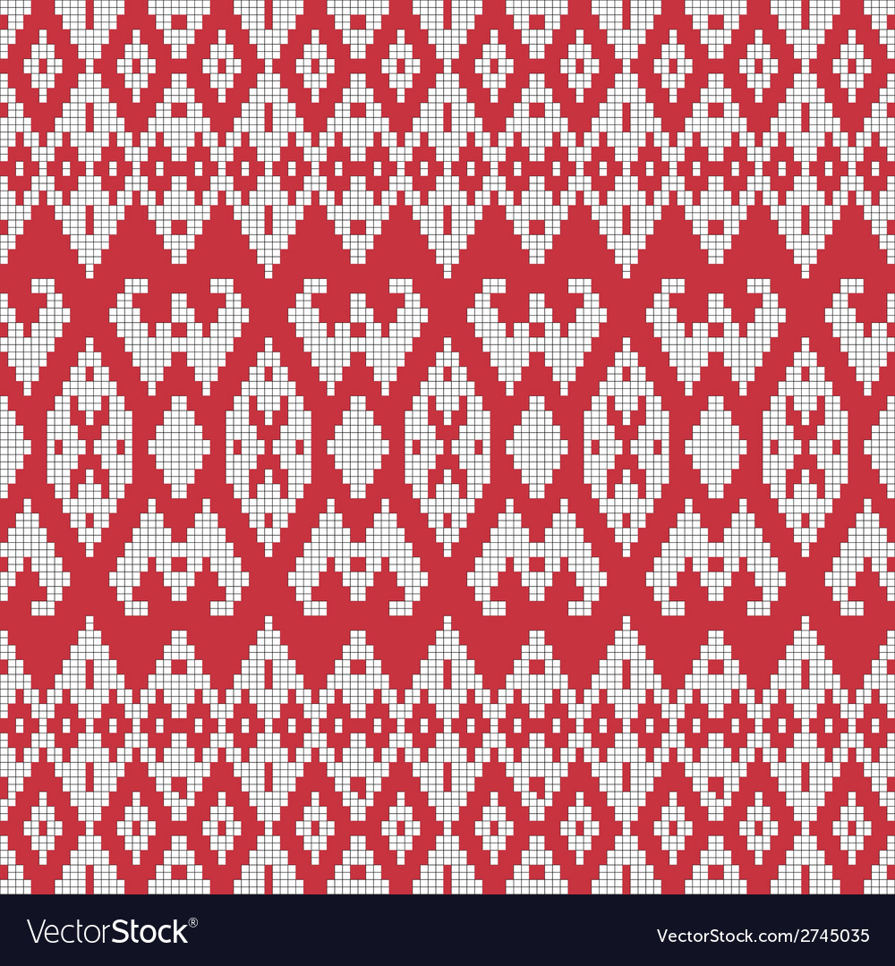 Ethnic textile ornamental seamless pattern vector | Price: 1 Credit (USD $1)
