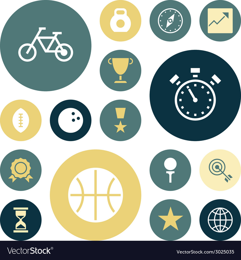 Flat design icons for sport and fitness vector | Price: 1 Credit (USD $1)