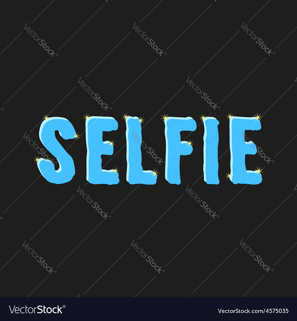Inscription selfie with glare vector | Price: 1 Credit (USD $1)