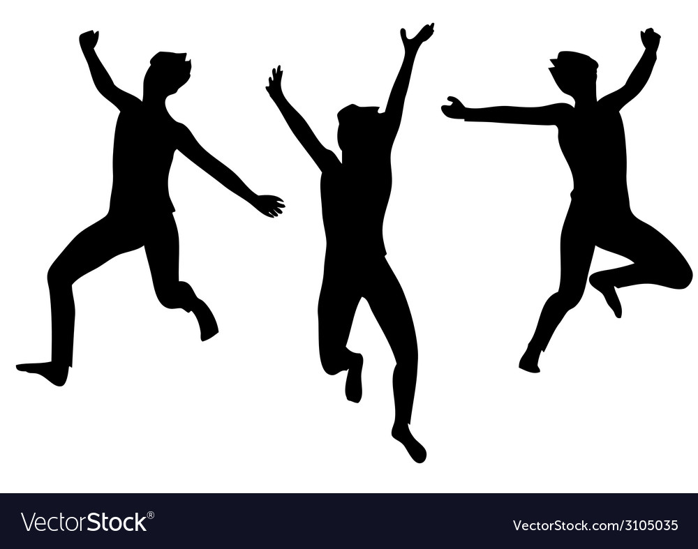 Jumping for joy vector   Price: 1 Credit (USD $1)